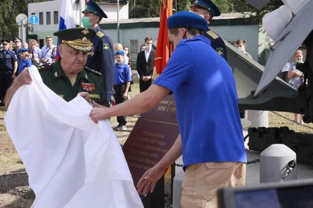 В объединении ПВО-ПРО (ОсН) прошло торжественное открытие памятного экспоната зенитного ракетного комплекса ПВО С-75