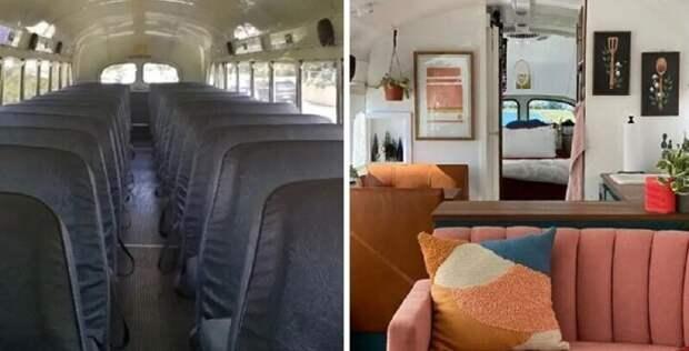 Две женщины купили старый школьный автобус и превратили его в свой дом