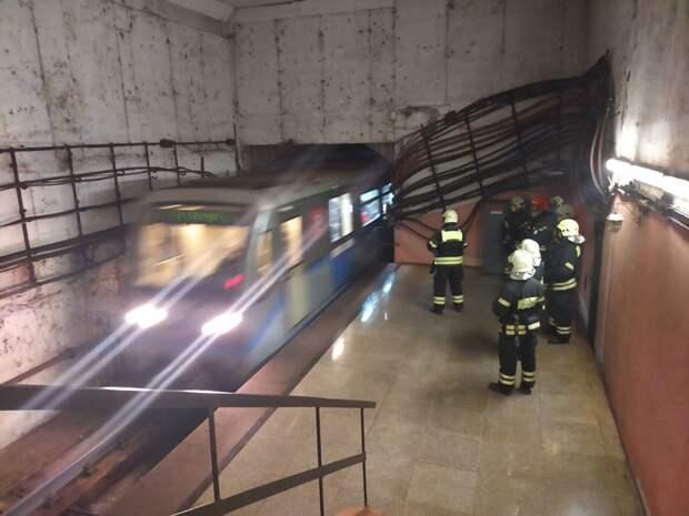 Пожарные ПСО № 204 потушили условный пожарна станции Московского метрополитена
