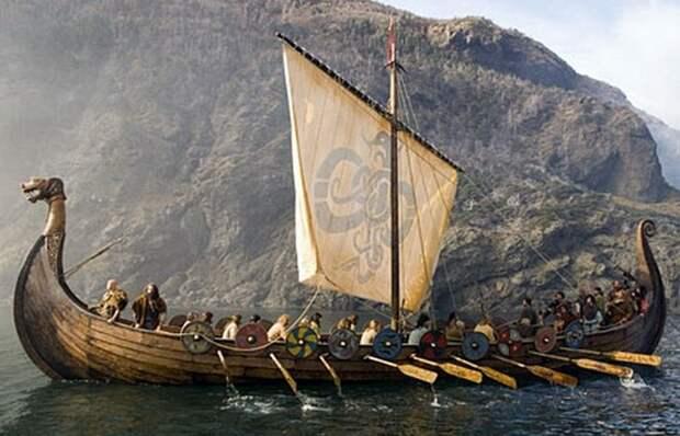 Корабль викингов./фото: lactoriacornuta.livejournal.com