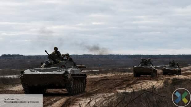ВСУ разместили военную технику около села Счастье