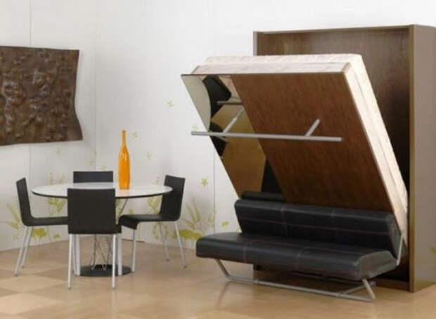 Складная и навесная мебель: особенности использования и размещения в интерьере