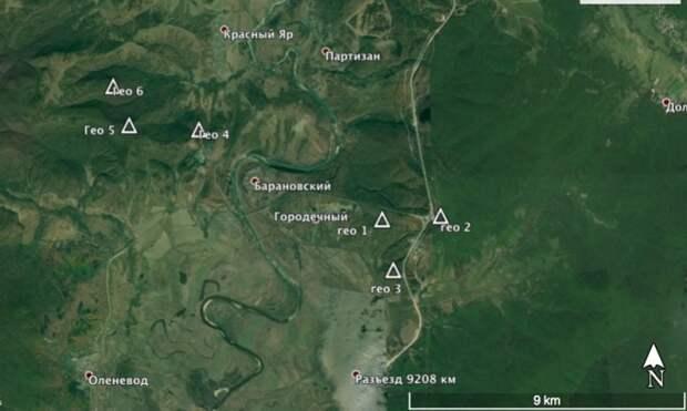 Так расположены фигуры близ Териховки.