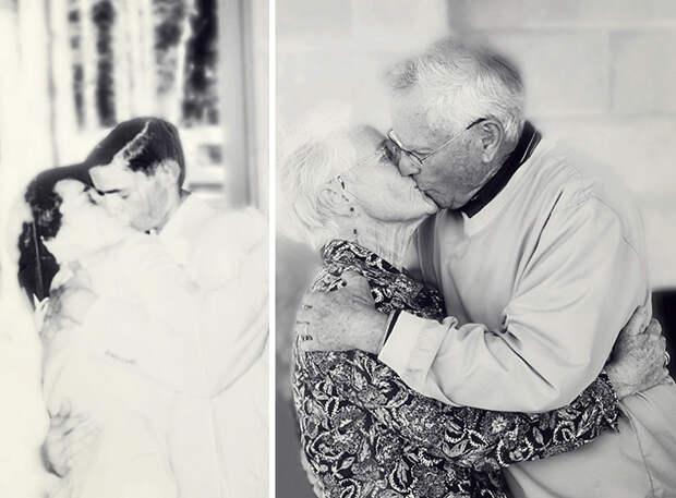 Вечная любовь: семейные пары переснимают свои старые фото спустя много лет