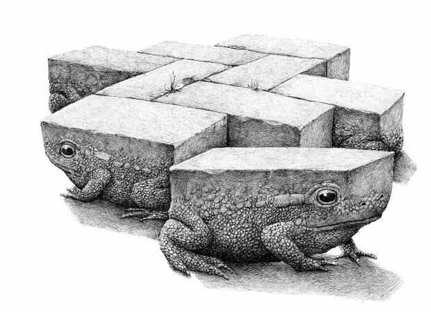 «Проделки моего разума»: голландский художник Редмер Хокстра и его жутковатые и странные рисунки