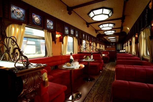 6 самых респектабельных поездов, которые не уступают в роскоши люксовым отелям