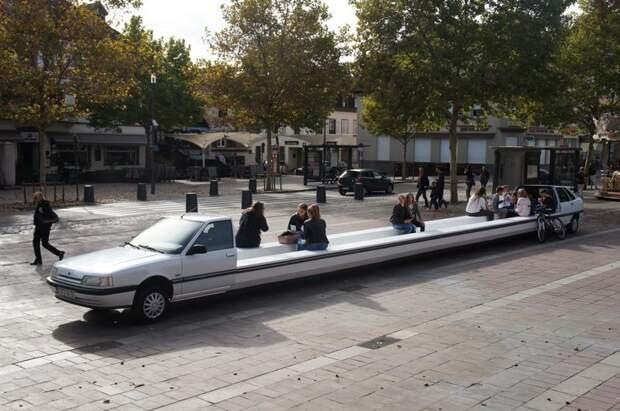 5. В парковой зоне отлично вписался автомобиль-лавка авто, дизайн, не по назначению, новая жизнь старых идей, что можно сделать из авто, юмор