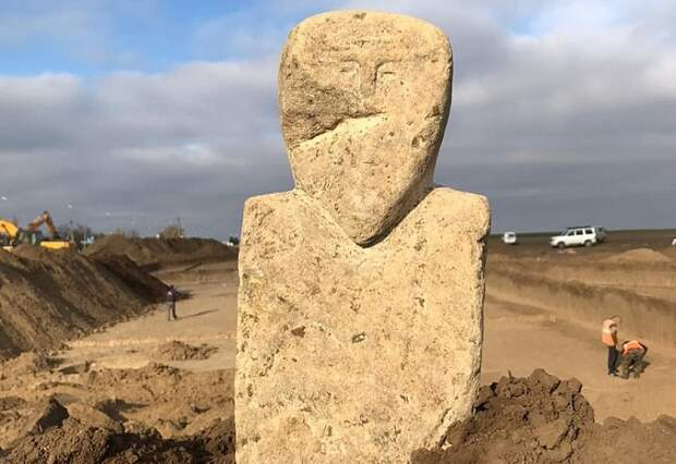 На Тамани обнаружили древнетюркское изваяние 7-8 веков