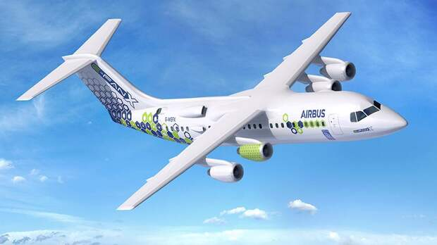 Проект гибридного самолета AirbusE-Fan X