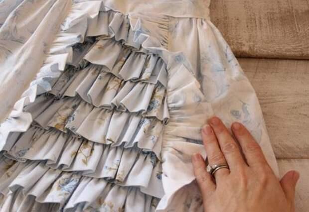 фото как сшить детскую юбочку со складками, МК