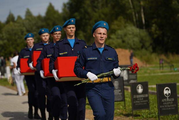Под Зубцовом в Тверской области перезахоронили более 400 советских солдат