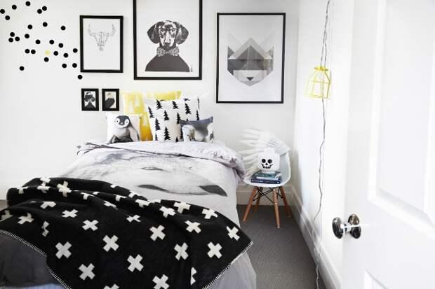 Черно-белая спальня: дизайн, фото готовых вариантов (75 фото)