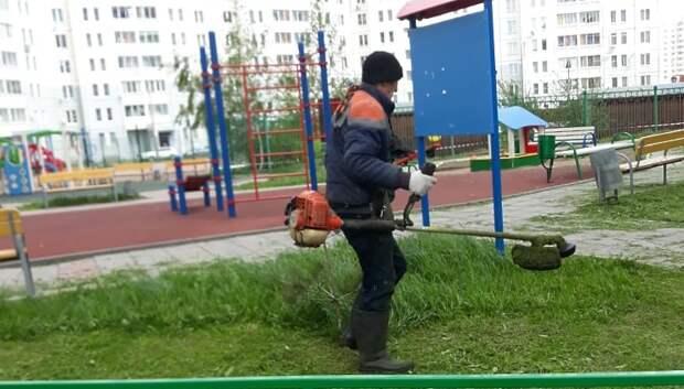 В Подольске начали косить траву для профилактики укусов клещей