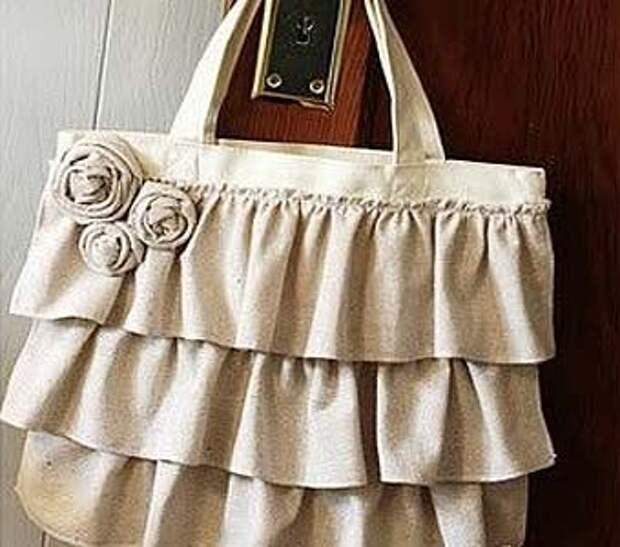 белая сумка своими руками