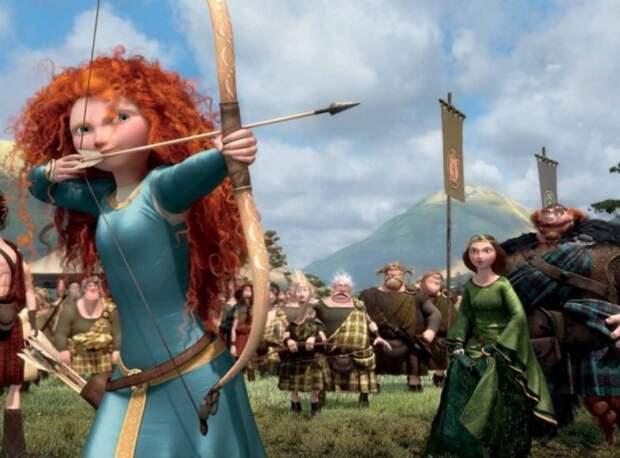 Откуда у скандинавской мультяшной принцессы монгольский лук - загадка. /Фото: vev.ru