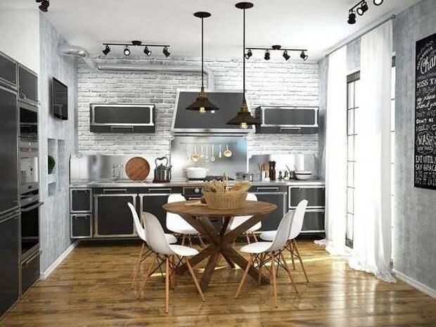 декоративная штукатурка на кухне, фото 21