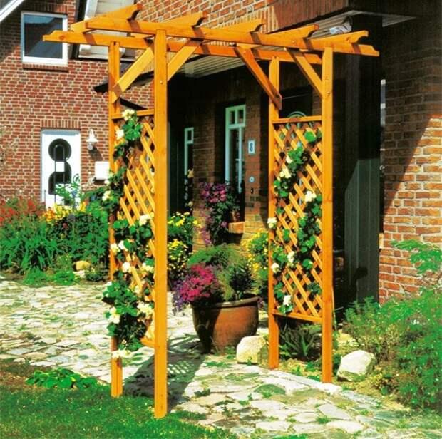 Деревянные арки на даче: виды, назначения, этапы сооружения