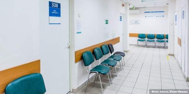 Собянин осмотрел итоги реконструкции поликлиники на севере Москвы/Фото: Ю. Иванко mos.ru
