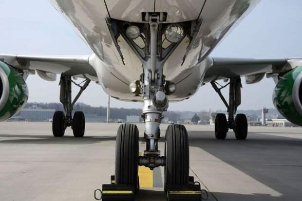 При посадке в Уфе у самолета с 71 ребенком на боту загорелась стойка шасси