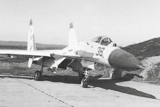 Перекрашенный после столкновения Су-27 Василия Цымбала уже под номером 38
