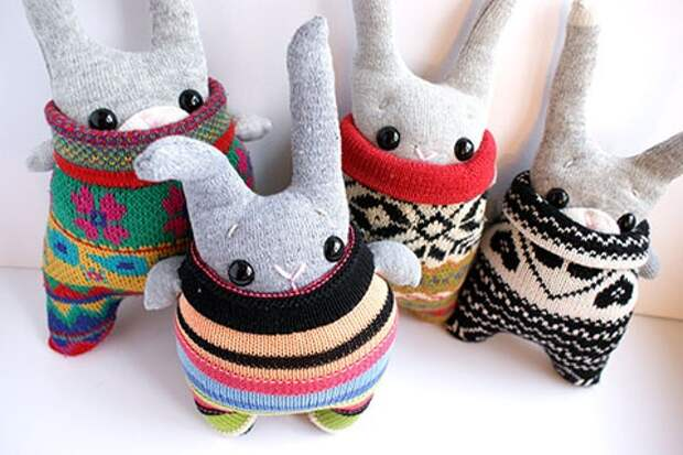 переделки свитеров в вязаные мягкие игрушки