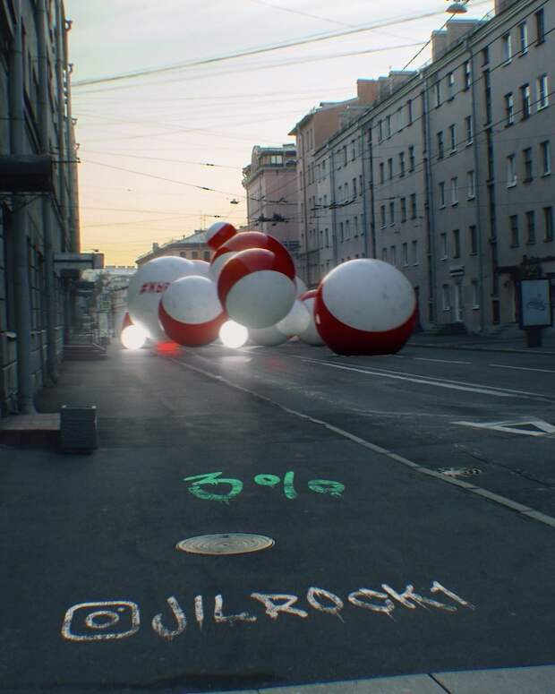 Видео: Огромные шары прогоняют Лукашенко