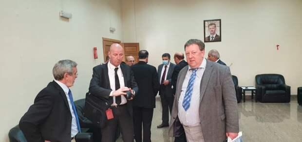 Гуннар Линдеманн на конференции в Дамаске