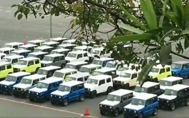Suzuki Jimny нового поколения попал на видео