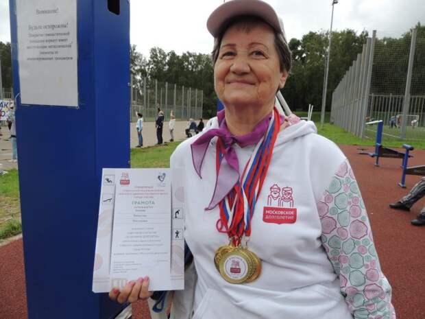 Самая спортивная жительница Головинского района отметила 70-летие