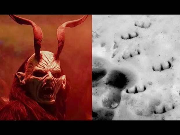 ЗАГАДОЧНЫЕ СЛЕДЫ на снегу в ДЕВОНЕ. Их оставил сам ДЬЯВОЛ?