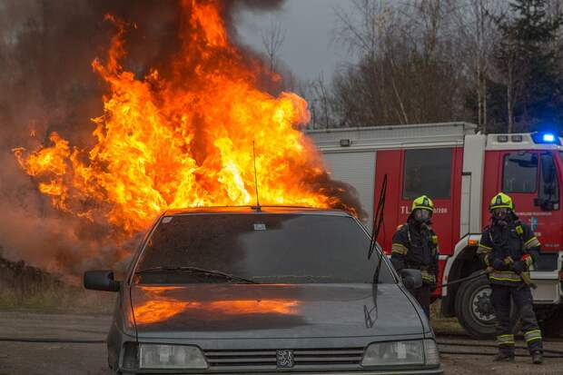 Пламени, Пожар, Fire, Автомобиль Абсолютно, Горячие