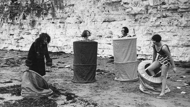 Мобильная пляжная раздевалка, 1929 г. история, ретро, фото, это интересно