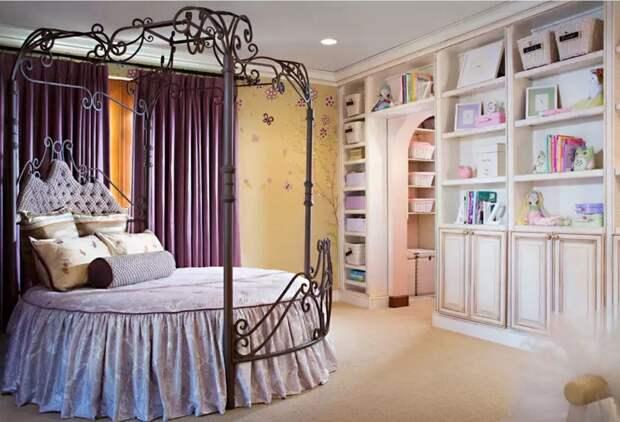 Круглая кровать. Необычное решение для спальни