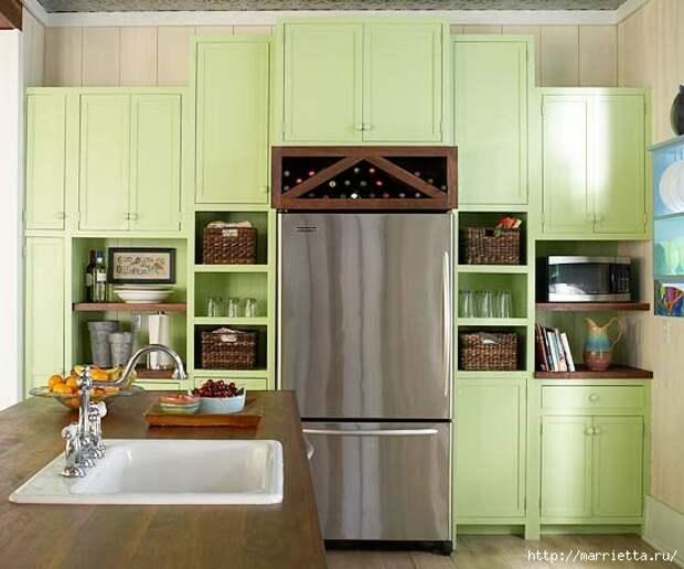 Как правильно оформить кухню в зеленых тонах (8) (550x458, 117Kb)