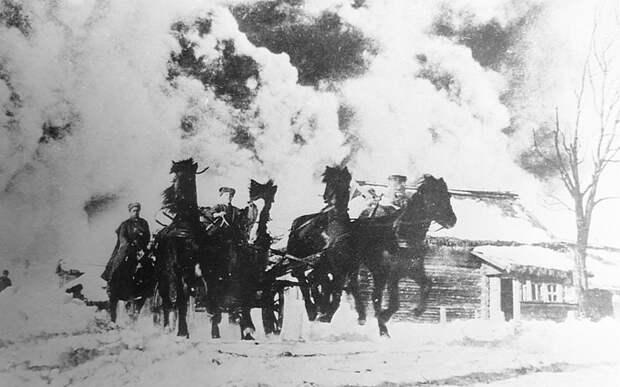Конники 2-го гвардейского кавалерийского корпуса во время контрнаступления под Москвой СССР, война, история