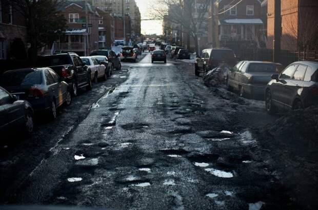 Ужасные дороги... Нью-Йорка. Но это же другое, правда? Источник: https://otvet.mail.ru/