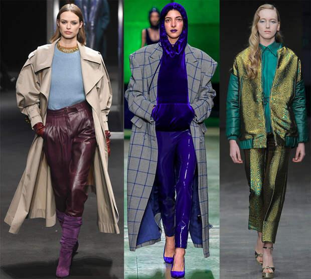 Модные блестящие брюки