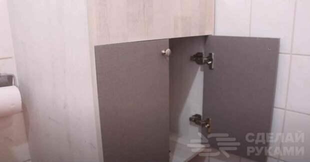 Как сделать настенную тумбу с дверцами под раковину
