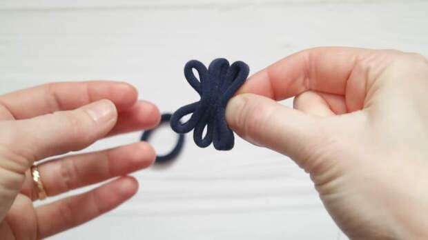 3 красивые идеи из простых резинок для волос