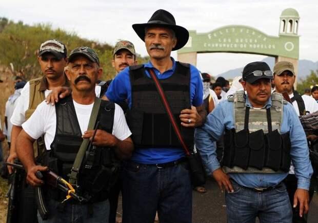 Народные дружины борьба с мафией, дружинники, коррупция в высшей власти, мексика, народное ополчение