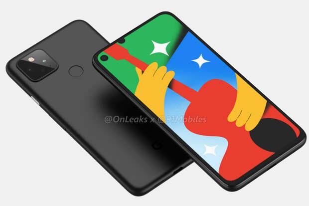 Рендеры Google Pixel 4a 5G указывают на наличие двойной камеры