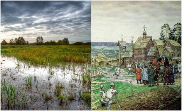 Какие современные мегаполисы появились на месте болот, и Как история сохранила память об этом
