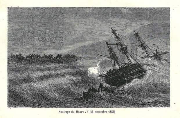 Крымская буря 1854-го. Стихия, утопившая флот