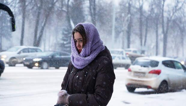 Метель и до плюс 1 градуса ожидается в Подольске во вторник