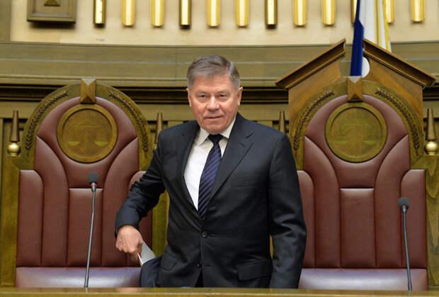 Вячеслав Лебедев на заседании Пленума Верховного суда России