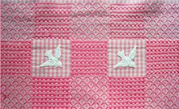 "Вышивка на клетчатой ткани или ""Chicken scratch embroidery"""