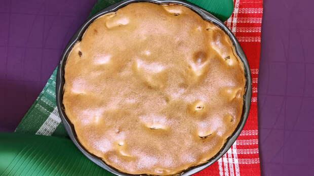"""""""Янтарный"""" пирог с яблоками (много начинки, мало теста)"""
