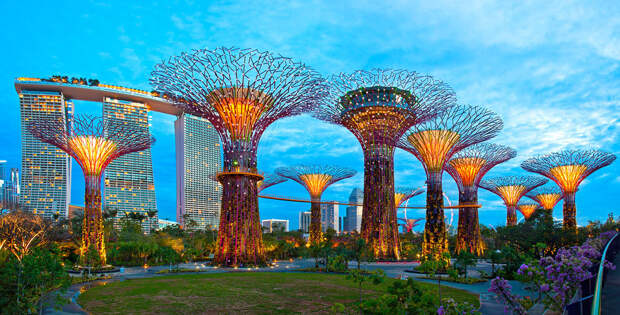Футуристические сады в Сингапуре