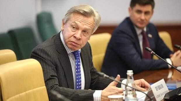 Пушков отметил наивность слов Столтенберга о вступлении Украины в НАТО