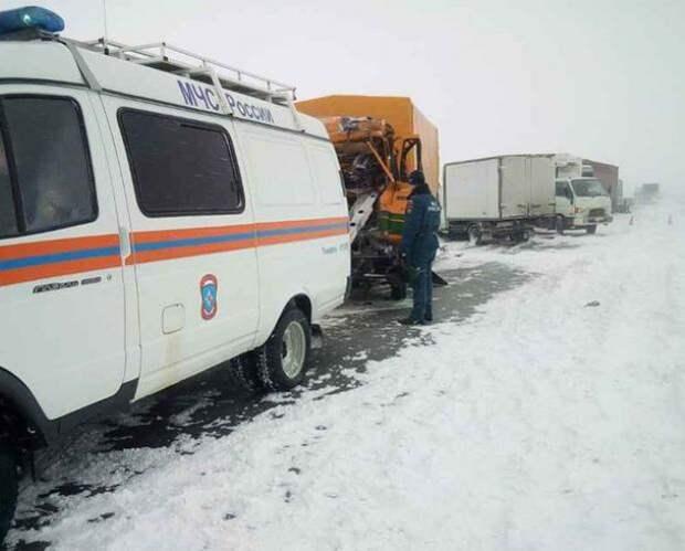Сильные метели и снегопады на юго-западе Сибири